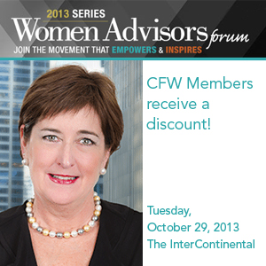 Past Event: October 29, 2013: Women Advisors Forum